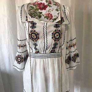 Chelsea & violet embroidered boho dress XS